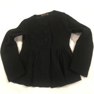Zara black wool blazer size medium